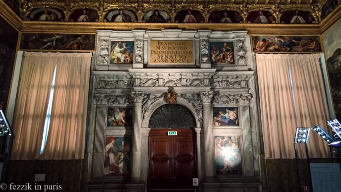 Inside the doge's palace.