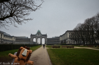 Marco has those Cold War blues at the Parc du Cinquantenaire.