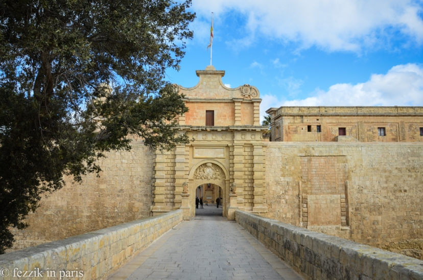 Mdina's main gate.