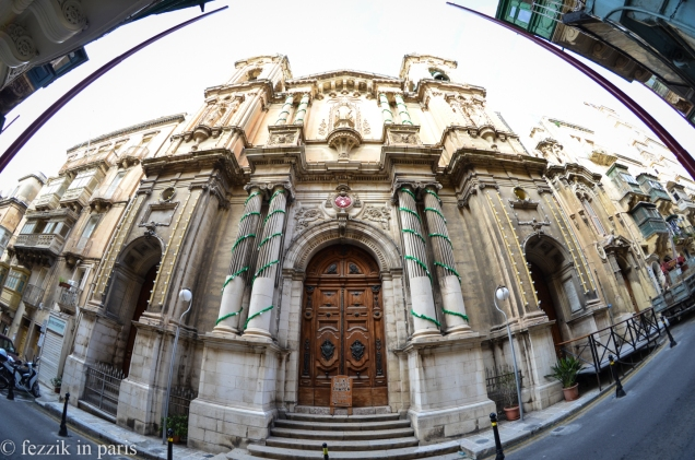 The Church of Saint-Paul's shipwreck, as brought to you by the fisheye.
