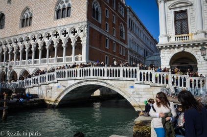 The Bridge of Sighs moniker temporarily transfers to the pedestrian bridge during carnival.
