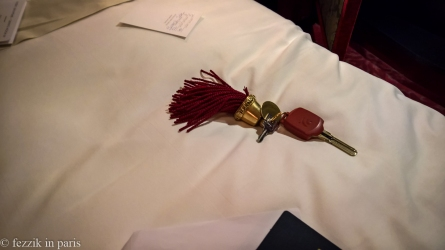 The hotel should sell these keyrings... I'd play with it incessantly (or until all of the tassels fell out).