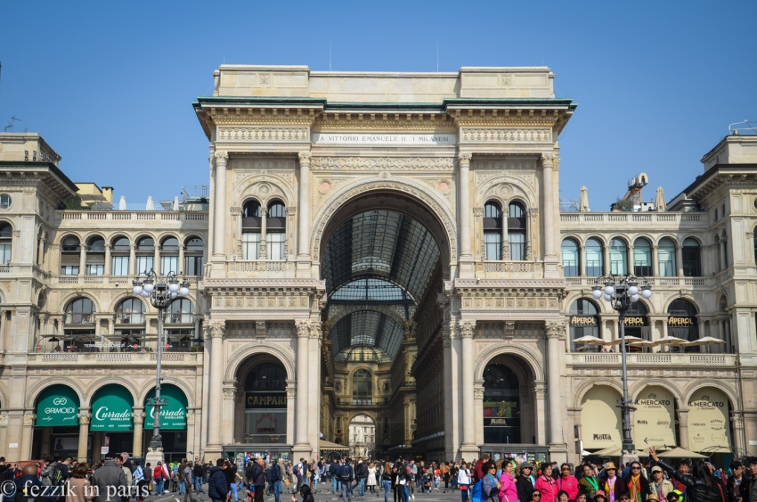 The Galleria Vittorio Emanuele II, home to some very expensive shops, and a surprisingly reasonable coffee shop/pastry bar. (It was so close to being a good cornetto)