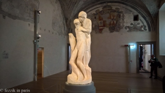 An unfinished pietà by Michelangelo.