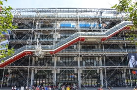 Pompidou looked strangely clean.