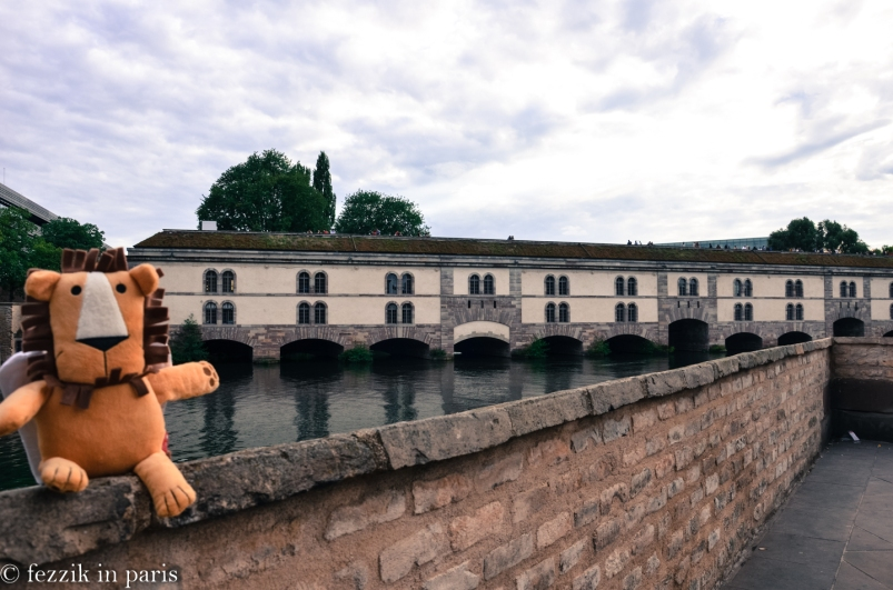 Marco makes an appearance in front of Strasbourg's barrage de Vauban.