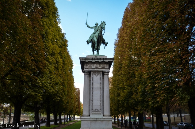 I had not previously realized that this was a statue of the Marquis de Lafayette.