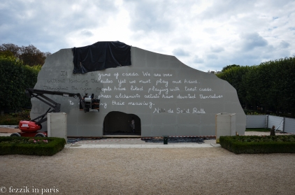 The future Saint-Phalle exhibit, which has taken over the garden.