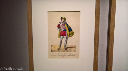 From the Mozart exhibit: an early Don Juan costume. Suave, isn't he?