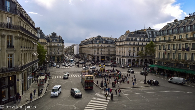 The view over place de l'opéra.