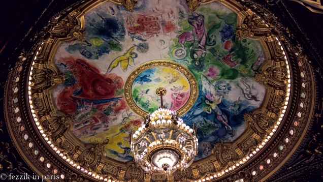The famous(?) Chagall ceiling.