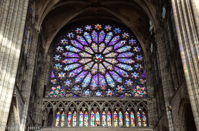 The rose window (northern transept).
