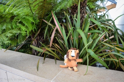 The Venetian lion stalks his prey in an urban jungle.